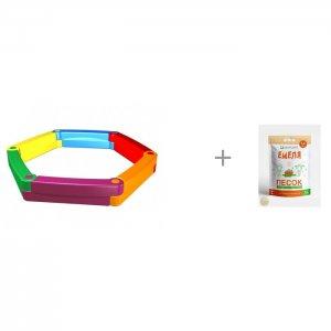 Пластиковая песочница из 6-ти элементов и Песок для песочниц Mixplant Емеля 14 кг 2Kids