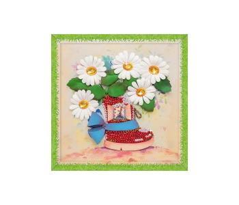 Набор для творчества мозаика из пайеток Полевые ромашки Волшебная мастерская
