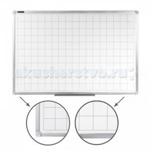 Доска магнитно-маркерная линовка алюминиевая рамка 60х90 см Brauberg