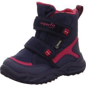 Утепленные ботинки Superfit. Цвет: темно-синий