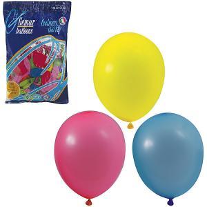 Воздушные шары 10 Веселая затея 100 шт, 25 см (12 цветов пастель)