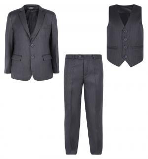 Костюм пиджак/жилет/брюки , цвет: серый Rodeng