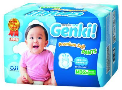 Подгузники-трусики Genki (7-10 кг) 32 шт. Nepia