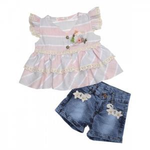 Комплект для девочки туника, шорты 3395 Baby Rose