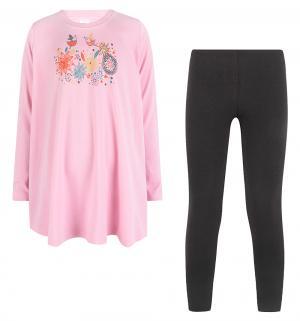 Комплект платье/леггинсы , цвет: розовый Pepelino