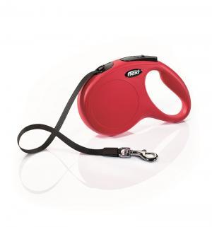 Рулетка ленточная New Classic M (до 25 кг), 5м, цвет: красный Flexi