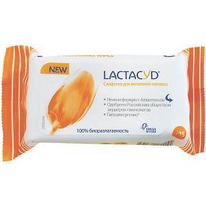 Салфетки для интимной гигиены , 15 шт Lactacyd