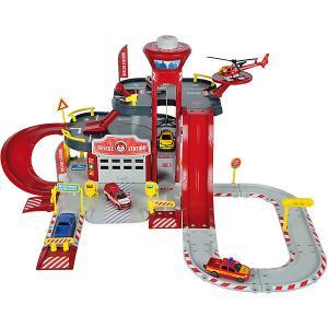 Парковка  Creatix Пожарная станция, 1 машинка вертолет Majorette