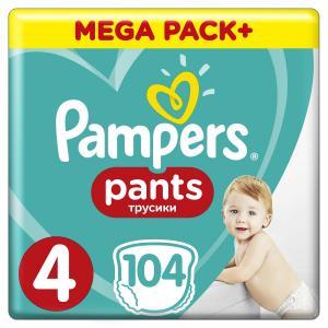 Трусики  Pants 4 размер (9-15 кг) 104 шт. Pampers