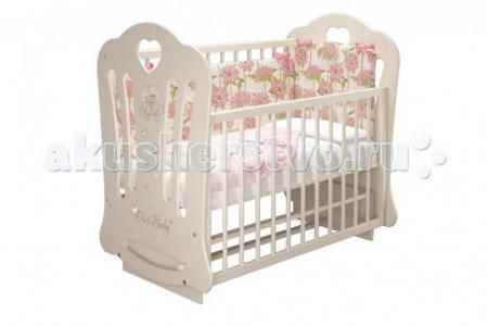 Детская кроватка  Шарлотта-2 Птички Бэби (маятник поперечный) Можгинский лесокомбинат