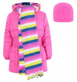 Комплект куртка/шапка/шарф , цвет: розовый Pink platinum by Broadway kids