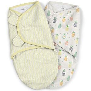 Конверт для пеленания на липучке , ананасы, желтый Summer Infant. Цвет: желтый