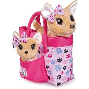 Плюшевые собачки Chi-Chi love Счастливая семья, 2 в сумочке Simba. Цвет: разноцветный