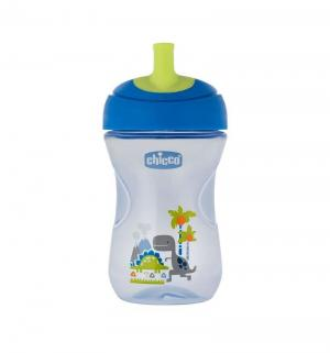 Чашка-поильник  с трубочкой Advanced Cup, 12 месяцев, цвет: голубой Chicco