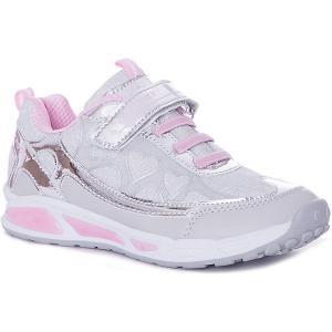 Кроссовки  для девочки Crosby. Цвет: серебряный