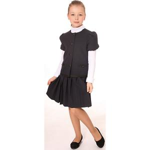 Костюм для девочки: жакет и юбка девочки Смена. Цвет: серый