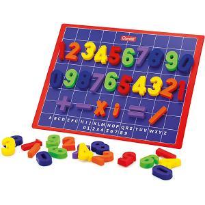 Магнитная доска с цифрами Quercetti. Цвет: разноцветный