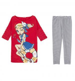 Комплект футболка/брюки , цвет: красный Pelican