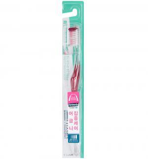 Зубная щетка  Dentor System двойного действия, цвет: красный CJ Lion