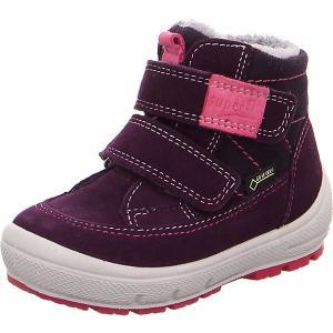 Утепленные ботинки Superfit. Цвет: dunkellila