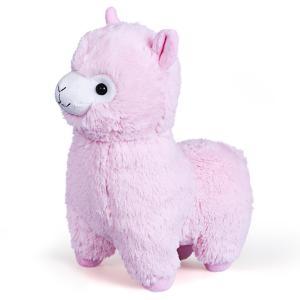 Мягкая игрушка  Гламурная Альпака 28 см цвет: розовый Fancy