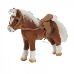 Мягкая игрушка  Коричневая лошадь с седлом и уздечкой Gotz