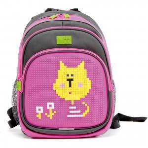 Рюкзак  KIDS, серо-розовый 4ALL