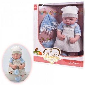 Кукла Baby So Lovely пупс в платье с шапочкой и носочками аксессуарами 38 см Junfa