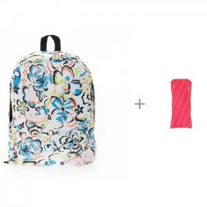 Рюкзак Цветы с пеналом-сумочкой Zipit Neon Pouch 3D Bags