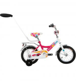 Детский велосипед  City Girl 12, цвет: белый/фуксия Altair