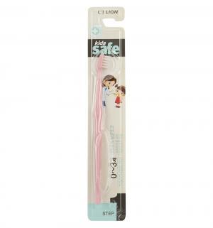 Зубная щетка  Kids Safe с серебряным покрытием №1, цвет: розовый Lion