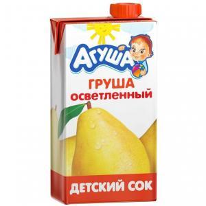 Сок  груша, 500 мл Агуша