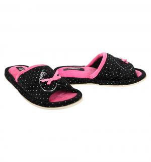 Тапочки , цвет: черный/розовый Effa