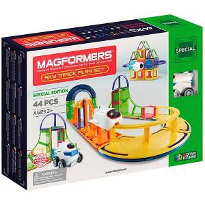 Магнитный конструктор Magformers Sky Track Play Set, 44 детали. Цвет: разноцветный