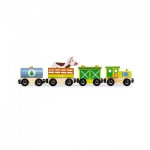 Деревянная игрушка  Поезд на магнитах с фигурками Ферма Janod