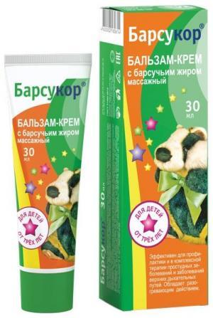 Бальзам-крем  массажный с барсучьим жиром, 30 мл Барсукор
