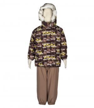 Костюм зимний для мальчика (коричневый принт) Rasavil. Цвет: коричневый