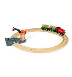 Железная дорога  с краном и поездом 15 элементов Brio