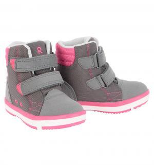 Ботинки  Patter Wash, цвет: серый/розовый Reima