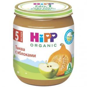 Пюре  яблоко-тыква с 4 месяцев, 125 г Hipp