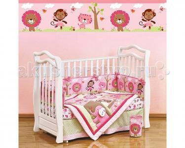 Комплект в кроватку  Shapito Pink Zoo (7 предметов) Giovanni