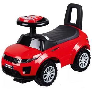 Машина-каталка  с музыкой и светом, красная Bugati