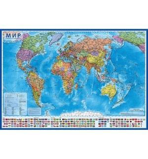 Карта мира 1 : 32  Политический 101х70 см (с ламинацией в тубусе) Globen