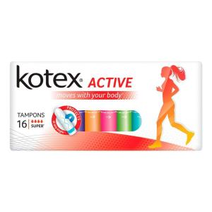 Тампоны  Active Normal, 16 шт Kotex