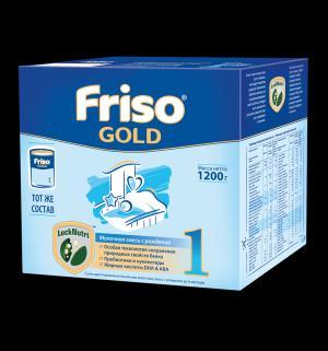 Заменитель молока  Gold 1 с пребиотиками 0-6 месяцев, 1200 г Friso