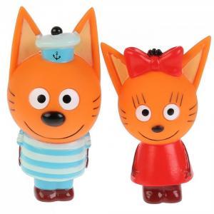 Набор из 2-х игрушек для ванны Три Кота Карамелька  и Коржик Капитошка