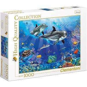 Пазл  Дельфины, 1000 элементов Clementoni