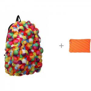 Рюкзак Bubble Full Dont burst с пеналом-сумочкой Zipit Neon Jumbo Pouch MadPax