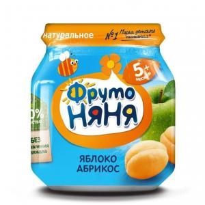 Пюре  яблоко-абрикос с 5 месяцев, 100 г ФрутоНяня