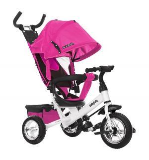 Трехколесный велосипед  Comfort 10x8 EVA, цвет: розовый Moby Kids